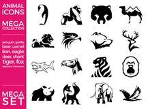 兆组装和兆集合传染媒介被设置的动物象 库存照片