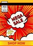 兆销售 最后的销售海报或飞行物设计 在五颜六色的背景的销售 也corel凹道例证向量 免版税图库摄影