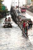 兆洪水在曼谷。 免版税库存照片