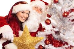 先生和圣诞老人夫人 免版税库存图片