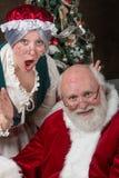 先生和圣诞老人夫人 免版税图库摄影