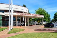 先生霍华德马礼逊Performing维多利亚艺术中心在罗托路亚,新西兰 免版税库存照片