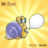 先生 与泡影讲话的蜗牛 也corel凹道例证向量 向量例证