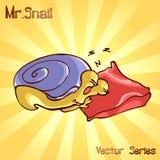 先生 与睡眠的蜗牛 也corel凹道例证向量 库存照片