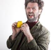 先生 送冰人,有胡子的微笑的人,胡子 免版税库存图片