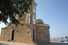 先知伊莱亚斯的教会在普罗塔拉斯,塞浦路斯 免版税库存图片