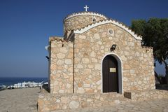 先知伊莱亚斯的教会在普罗塔拉斯,塞浦路斯 免版税库存照片