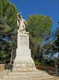 先知伊莱亚斯的雕象迦密山的,以色列 库存照片