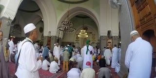 先知建造的渠坝清真寺穆罕默德 库存图片