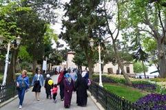 先知Yusa的长的坟茔在Beykoz,伊斯坦布尔 库存图片