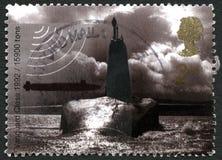 先锋类水下英国邮票 免版税库存图片