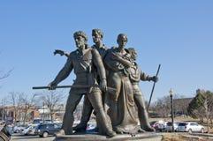 先驱家庭纪念品雕塑 免版税库存照片