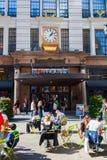 先驱广场的在曼哈顿, NYC Macys商店 免版税库存照片