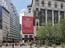 先驱广场的, NYC梅西百货公司 库存图片