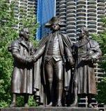 先驱广场纪念碑 免版税库存图片