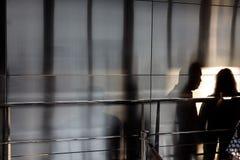 光、阴影和反射在NYC街道上  免版税图库摄影