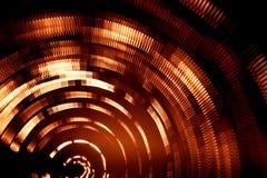 光五颜六色的抽象足迹  小点、线和bokeh在黑暗的背景 免版税库存图片
