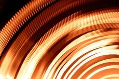 光五颜六色的抽象足迹  小点、线和bokeh在黑暗的背景 免版税图库摄影