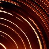 光五颜六色的抽象足迹  小点、线和bokeh在黑暗的背景 图库摄影