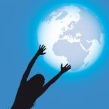 光亮向量世界 免版税图库摄影