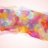 光亮的三角poligonal传染媒介例证 免版税库存图片