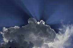 光亮的云彩在北部孟加拉 库存图片
