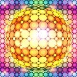 光亮的五颜六色的迪斯科球 免版税库存图片