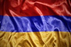 光亮的亚美尼亚旗子 图库摄影
