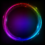 光亮的圈子宇宙传染媒介背景 免版税库存照片