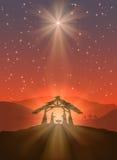光亮的圣诞节星 库存图片