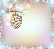 光亮的圣诞节背景 图库摄影