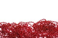 光亮的圣诞节装饰框架-红色 免版税库存照片