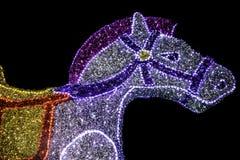 光亮的圣诞节马 免版税库存照片