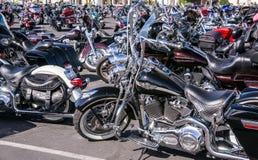 光亮的摩托车 免版税库存照片
