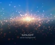 光亮的星传染媒介背景 EPS10 免版税库存图片