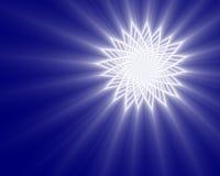 光亮的星形 库存例证