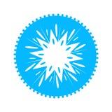 光亮的星蓝色象 传染媒介干净的设计象 向量例证