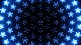 光亮的星辐形蓝色圈 股票视频