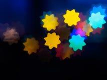 光亮的星` s明信片题材 库存照片