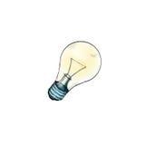 光亮的电灯泡的例证 库存照片