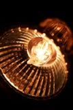 光亮的电灯泡细节 库存图片