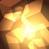 光亮的立方体 图库摄影