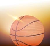 光亮的篮球 库存照片