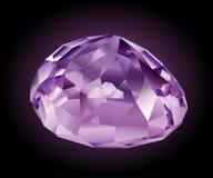 光亮的紫罗兰色紫锂辉石 库存图片