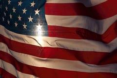 光亮的美国国旗 图库摄影