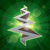 光亮的金属圣诞树 免版税图库摄影