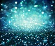 光亮的闪烁-蓝色 库存图片