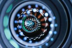 光反射在透镜 库存照片