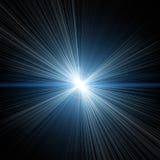 的光和蓝色光亮的星 库存照片