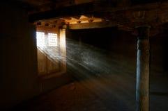 光和尘土 库存照片